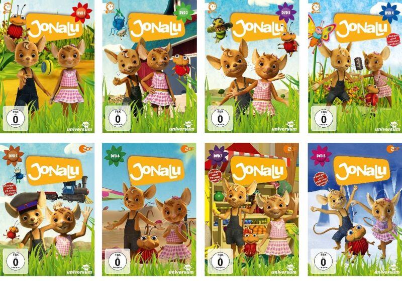 8 DVDs * JONALU  DVD 1 - 8 IM SET  # NEU OVP §