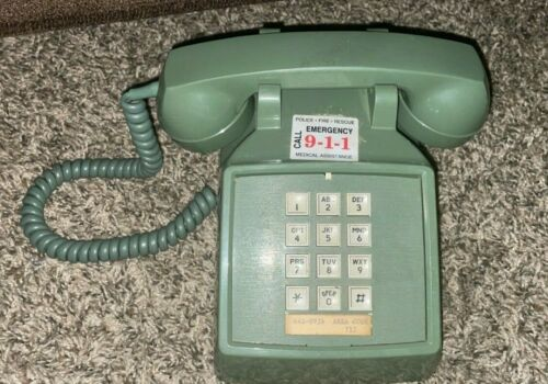 Vintage Automatic Electric Rotary Desk Telephone (Green) 717 Area Code PA