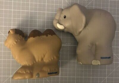 Fisher Price Little People Zoo Talkers LOT Of  (2) Elephant And Camel