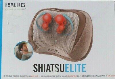 NEW HOMEDICS SHIATSUELITE 3D SHIATSU & VIBRATION MASSAGE PIL