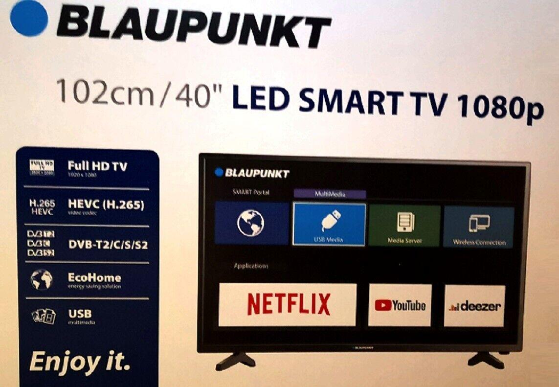 """Blaupunkt BLA-40/138Q Fernseher Full HD Smart TV 40"""" 102cm WLan CI DVB-T2 HDMI"""