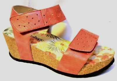 TS shoes TAKING SHAPE sz 6 / 37 Coral Lisbon Wedge super-comfy wide NIB rrp$170!