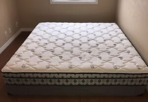 King size mattress & box