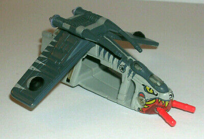 STAR WARS REPUBLIC GUNSHIP TIGER SHARK MICRO MACHINES TITANIUM SERIES! LOOSE +?!