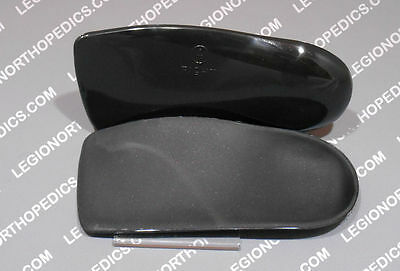 Arch supports - Pre-made orthotic  plastic size 4 - 13 optional cover round heel