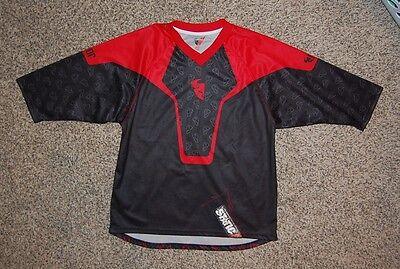 THOR Static mens motocross ATV black red jersey sz Medium great -