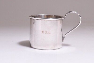 Antique LUNT STERLING SILVER BABY CUP Monogram