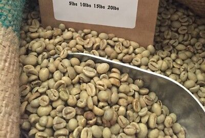 10# INDONESIA UNROASTED GREEN COFFEE BEANS. Genuine PROCESS. AP-1 GR-1. ROBUSTA.