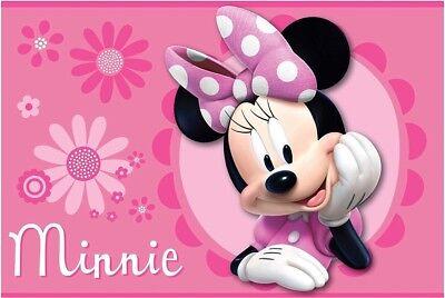 MINNIE MOUSE DISNEY ORIGINAL DECORATIVE RUG SUPER SOFT - Minnie Mouse Carpet
