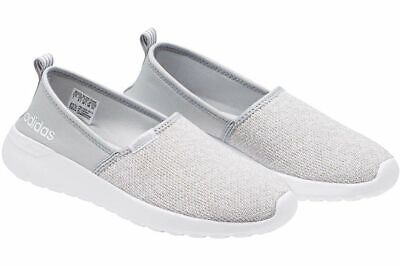 adidas NEO Women's Lite Racer Slip On W Casual Sneaker Grey, Pick A Size (Adidas Neo Womens Lite Racer Casual Shoes)
