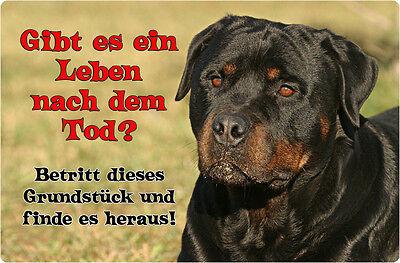 ROTTWEILER - A4 Metall Warnschild SCHILD Hundeschild Alu Türschild - RTW 21 T19