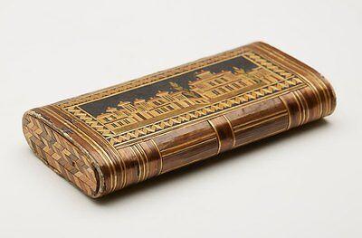 ANCIEN NAPOLÉONIENNE PRISONNIER OF WAR PAILLE-TRAVAIL ÉTUI C.1800