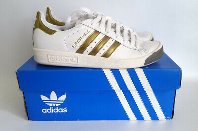 Adidas Originals. Forest Hills. 2001. UK 4. White & Gold. BNIB.