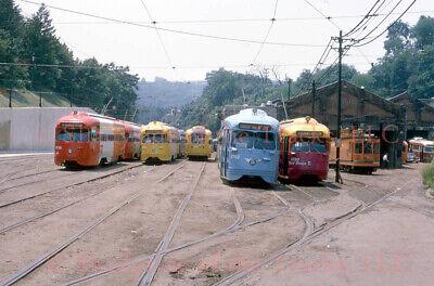 Pittsburgh PAT Electric PCC Streetcar #1702 Original Slide South Hills