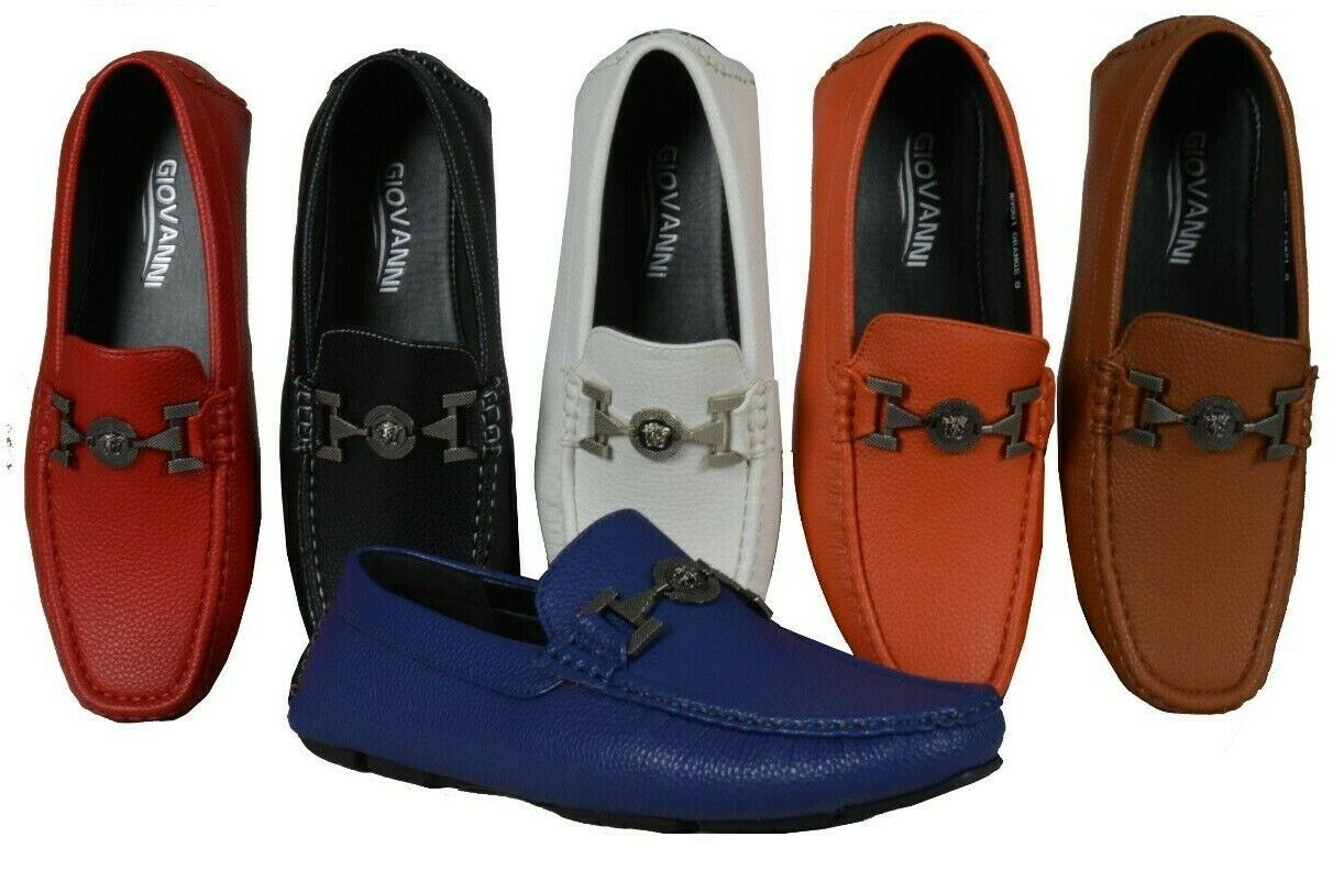 Men's Giovanni Dress Shoes Loafer Casual Italian Slip-On Solid Moccasin M9801