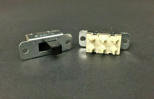 10x Arkles 2 Position Slide Switch On None On DPDT 3A 125VAC .5A 125VDC PC Mount
