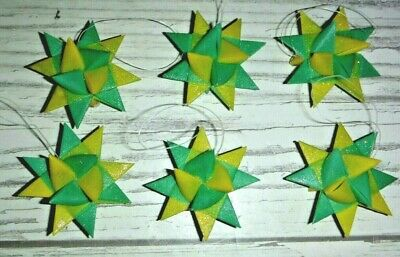 """Moravian Quilling Paper Strips to make 3D Stars ¾"""" over 1000 strips Green"""