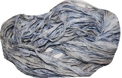 100g Sari Silk Ribbon craft ribbon yarn, jewelry making Tiffany (Tiffany Jewellery India)