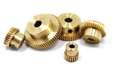 1 Modulus 20 25 30 40 Teeth Worm Gear For Shaft Drive Gearbox Set - Select