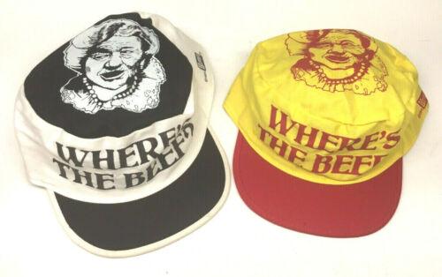 Vintage Hat Wendy's Wheres The Beef 1980s Painters / Trucker Cap Adjustable