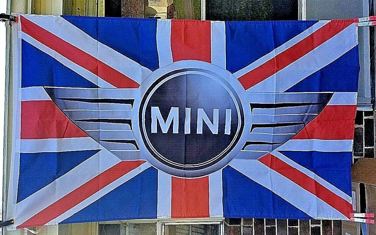 Advertising British Motor Corp Mini Logo Flag 3'x5' Vehicle Make Banner Car Sign