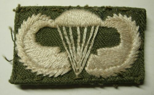 Vietnam War Hand Sewn Paratroop / Jump Wing - On HBT - US Army