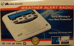 Midland Consumer Weather Alert Radio Trilingual Display Alarm Clock ~ WR-120B NO