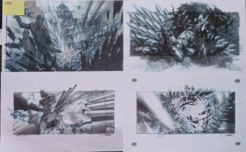 PEARL HARBOR LOT 21 MOVIE PRODUCTION USED CONCEPT ART MANSER GUY DYAS GILFORD