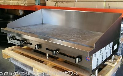 New 72 Griddle Flat Top Grill 12 Back Splash Gas Stratus Smg-72-sb-12h 4101