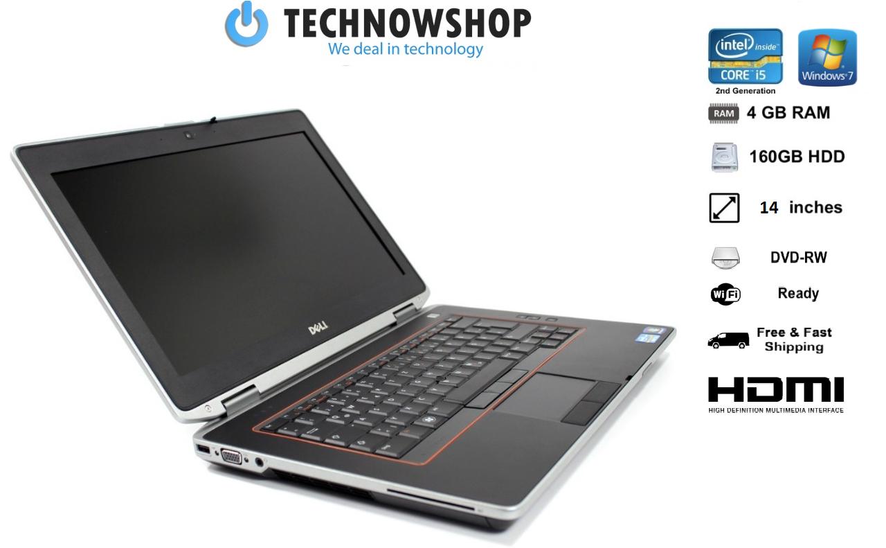 Laptop Windows - Cheap Windows 7 Dell Laptop E6420 Intel i5 4GB Ram 160GB Hd WebCam HDMI DVD WiFi