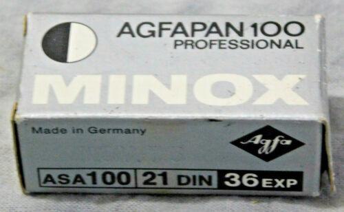 Minox Agfapan 100 Professional 8x11 - 36exp Expired Nov/1975