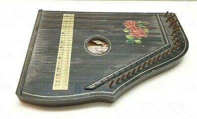 Z2) Alte Zither D.B.W.Z. Nr.667144 Made in Germany defekt Deko