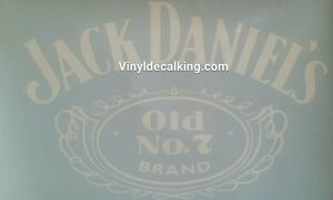 Jack daniels vinyl decal, old No 7 brand. Custom made Car/truck window sticker