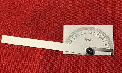 Starrett - Pn C183 - Steel Protractor - Made In Usa