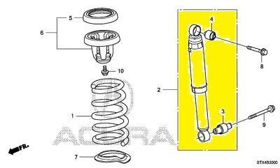 52610STXA04 Acura OEM 07-13 MDX Rear-Shock Absorber