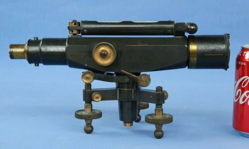 Antique Early Brass Stanley Theodolite Level Dated 15/8/16 ?