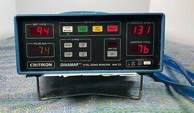 Ge Critikon Dinamap 1846 Sx Vital Signs Monitor W Cuff Power Cord Ready Bp1