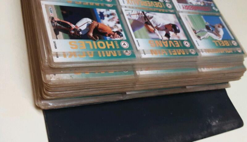Huge Sportscards Baseball Card Collection Storage Unit Find OVER 800 pc Notebook