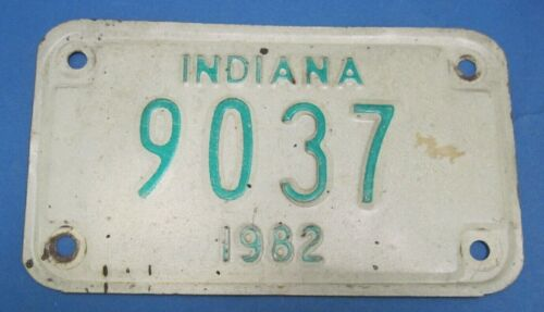 1982 Indiana motorcycle license plate