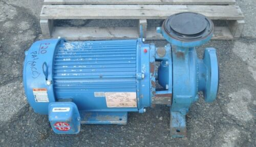 """EMERSON 10HP 3PH MOTOR FLOWSERVE D824 2"""" TO 3"""" CENTRIFUGAL PUMP 250 GPM"""