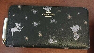 Coach X Disney Dalmatian Pups Accordion zip Wallet 91743 - NEW