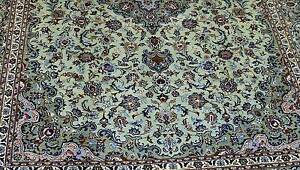 MASSIVE ROOM SIZE PISTACHIO HAND WOVEN PERSIAN MASHAD RUG CARPET Crows Nest North Sydney Area Preview