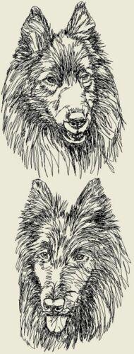 Belgian Sheepdog Dog Personalized Embroidered Fleece Stadium Blanket Gift