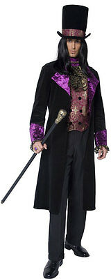 Dunkler Gothic Graf Vampir Kostüm NEU - Herren Karneval Fasching Verkleidung - Gothic Graf Kostüm