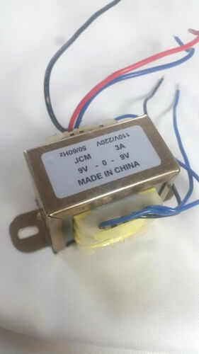 18V , 9V Transformer 9V-0-9V CT 3A 110Vac 220Vac to 18Vac 9Vac + FREE SHIPPING