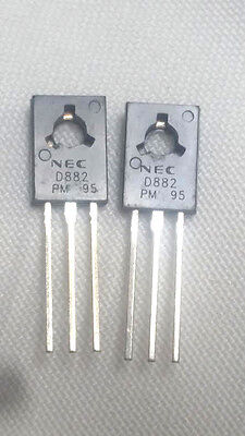2 Pieces 2sd882 D882 Npn Transistor Silicon Audio Power Amplifier Us Free Ship
