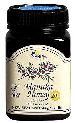 Pacific Resources New Zealand Manuka Honey Bio Active 20+ 500g / 1.1 lbs Jar