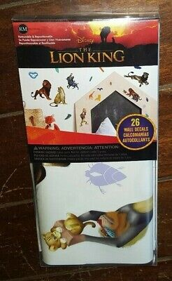 Brand New 26pc Disney THE LION KING Removable & Repositionab