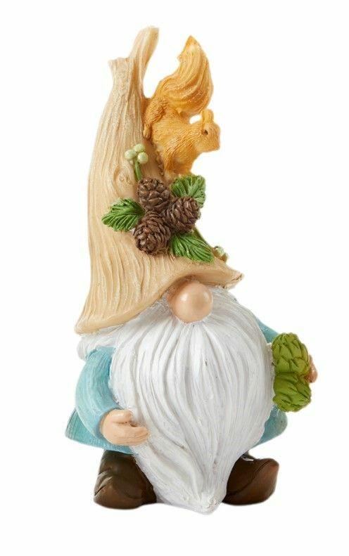 "Fairy Gnome Garden Fall/Harvest 6"" Gnome w/ Squirrel & Pine Cones-Buy 3 Save $5"