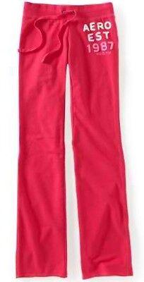 Pink Aeropostale Aero 1987 Fit & Flare Womens Fleece Lounge/sweat Pants Sz L Xl